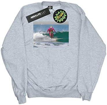 DC Comics Herren Batman TV Series Joker Surfing Sweatshirt Sport Grau XX-Large