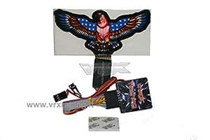 Águila discoteca efecto Flashing Light LED Kit con 9modos Dazzling (Azul) VRX