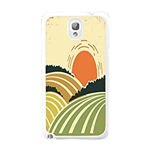 High Impact Ultra Thin Back Phone Case Hard Plastic Case Cover for Samsung Galaxy Note 3 (art drawing sunset BY664) by icecream design