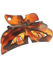 Pinza para el pelo de acrílico de 9 cm, para mujer, diseño de mariposa