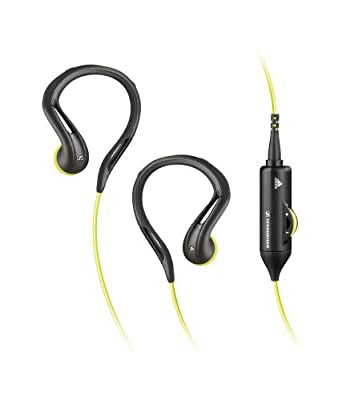 Sennheiser In-Ear Sports Earclip Headphone with Volume Control and Adjustable Earclips