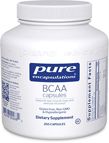 Pure Encapsulations – BCAA Capsules – Hypoallergenic Supplement To Support Muscle Function During Exercise* – 250 Capsules For Sale
