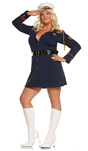 Elegant Moments Women's Plus-Size Gentleman's Officer-Plus, Navy, (Officer And Gentleman Outfit)