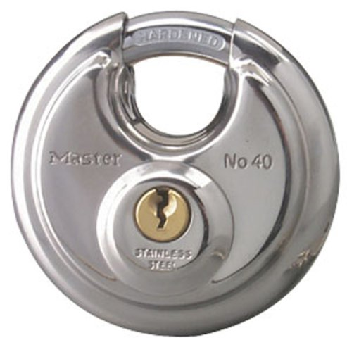Master Chrome Padlock (Master Lock 40KADPF Round Padlock with Shielded Shackle, Stainless Steel)