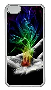 iPhone 5C Case, iPhone 5C Cases -Palm smoke Polycarbonate Hard Case Back Cover for iPhone 5C¨C Transparent
