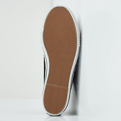 Sneakers Knights British Pizzo Donne Master Platform Bassa Nero XqdRqw