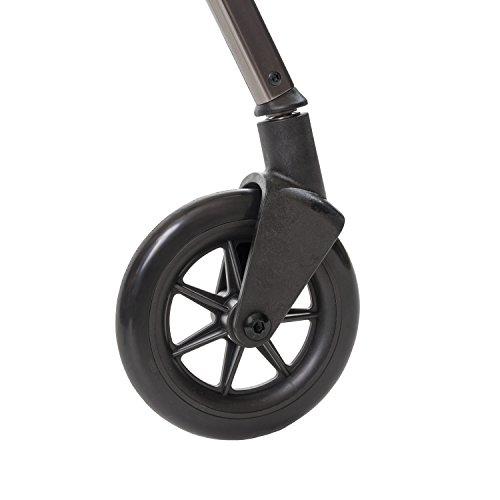 Standers Swivel Wheel Kit for Ez Fold N' Go Walker and Space Saver Walker, Black, 2 Count