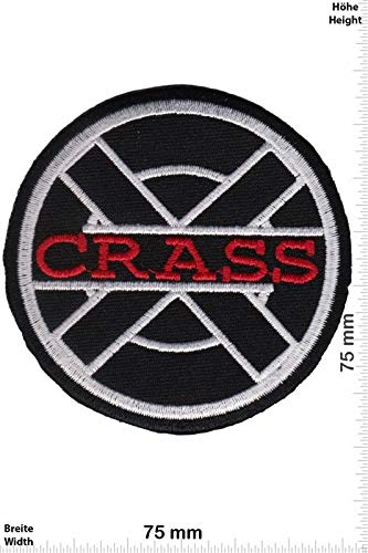 Crass - Anarcho-Punk-Band Embroidered Patch Iron on Applique Souvenir Accessory (Best Anarcho Punk Bands)