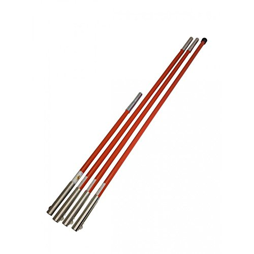 Pryor Tools STD-21ST 21 Set Of Steel Reinforced Fiberglass Poles for All Sewer Tools