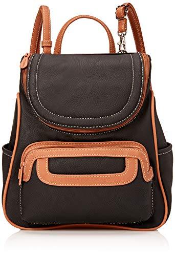 Backpack Style Handbag - MultiSac Major Backpack, Black/Cognac