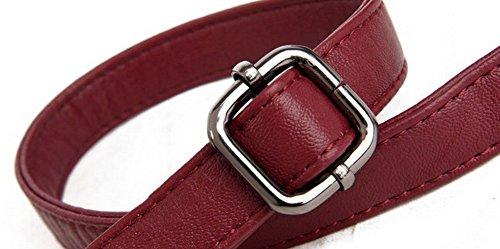 Rouge Sacs Pu Pochette à Femme Vineux bandoulière AllhqFashion FBUFBD180928 Zippers Achats Cuir Yv6xfxEqan