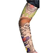Tattoo Arm Warmers Sleeves 2016 New Arrival Cycling Cuff Arm warmers Sun Breathability Elastic Bicycle(1 pcs)