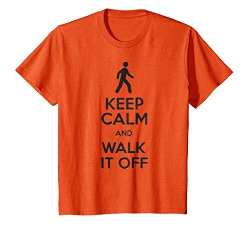 Kids Keep Calm And Walk It Off T-Shirt 8 Orange