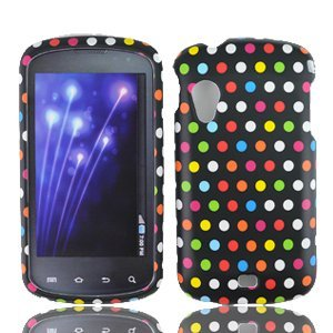 Rainbow Dots Hard Faceplate Cover Phone Case for Samsung Stratosphere i405 SCH-i405 (Stratosphere Case)