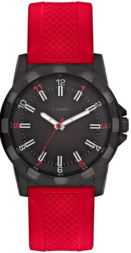 s.Oliver Men's Quartz Watch SO-2369-PQ with Plastic Strap
