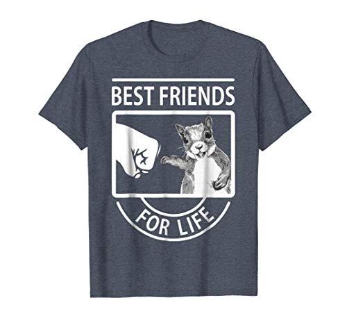 (Mens Squirrel Best Friend For Life T-shirt XL Heather)