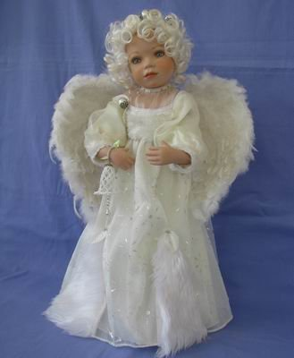 "Used, 20"" Unity White Angel Porcelain Doll for sale  Delivered anywhere in USA"