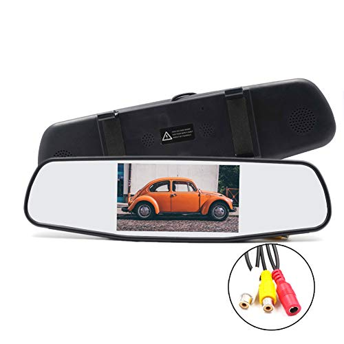 Rear Mirror Polarized View (OUYAWEI Practical 5 Inch Car Mirror Monitor - 4:3 Ratio 800x480 Resolution 2 Video Input)