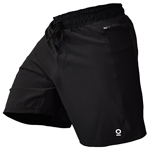 OPTIMAL HUMAN Men's WOD Shorts (Medium) Black