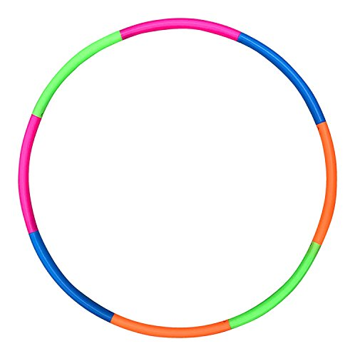 Liberty Imports 42 inches Snap Together Detachable Adjustable Exercise Plastic Large Toy Hoop for Sports and Playing (Adult Hula Hoop 42)