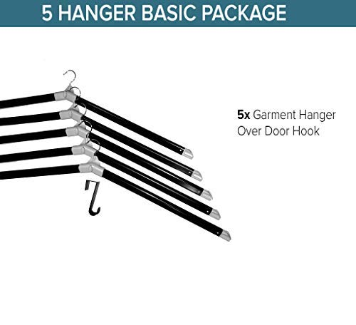 The Laundry Butler - Clothes Drying Rack Hangers for Laundry - 5 Extendable Cascading Hangers Drying of Clothes – Over The Door Hook for Laundry Room - Laundry Room Basics