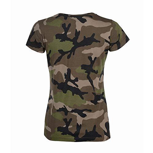 1d79561e3279c SOL'S Womens/Ladies Camo Short Sleeve T-Shirt: Amazon.co.uk: Clothing