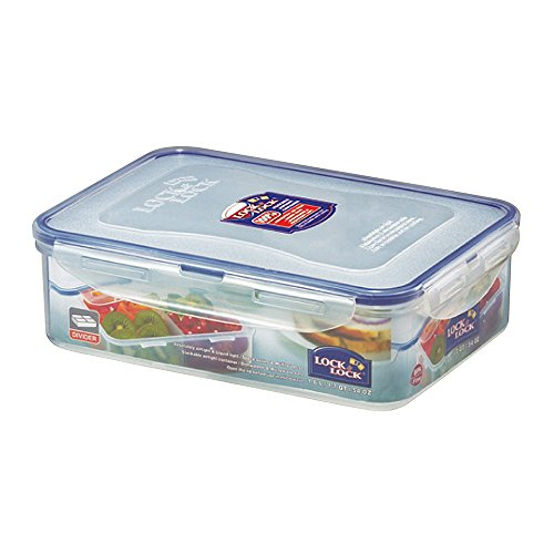 LOCK & LOCK Airtight Rectangular Food Storage Container with Removable Divider 54.10-oz / 6.76-cup (Lock & Rectangular Lock Cup)