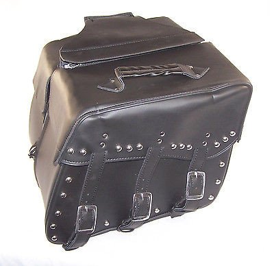 Saddlebags for harley davidson dyna wide glide Cowhide Genuine Leather by IND STURGIS (Image #2)'