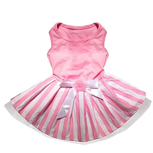 Price comparison product image Pet Costume, OOEOO Dog Cat Clothes Bow Tutu Dress Skirt Puppy Doggie Princess Apparel (Pink, S)