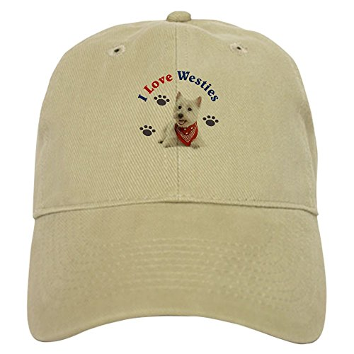 CafePress - I Love Westies 111 Baseball Cap - Baseball Cap with Adjustable Closure, Unique Printed Baseball Hat (Hat Westie)