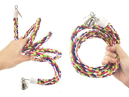 Petsvv Rope Bungee Bird Toy, Small[Misc.]