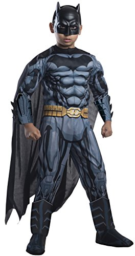 Rubie's Costume DC Superheroes Batman Child Deluxe Costume, Medium (Best Kids Batman Costume)
