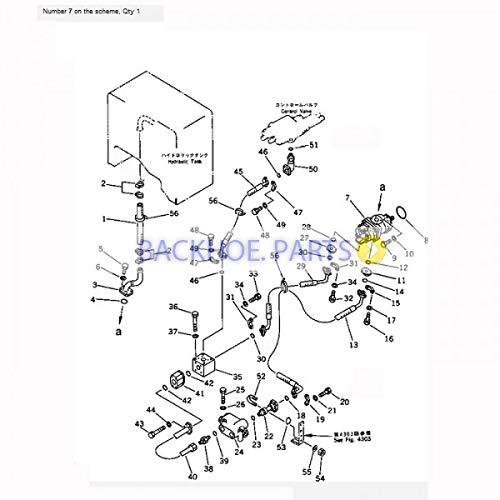 amazon for komatsu wheel loader wa250 1 hydraulic pump 705 51 Simple Exploded-View amazon for komatsu wheel loader wa250 1 hydraulic pump 705 51 20300 automotive