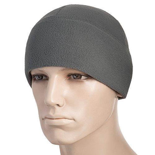 (M-Tac Watch Cap Fleece 260 Slimtex Mens Winter Hat Military Tactical Skull Cap Beanie (Large, Gray))