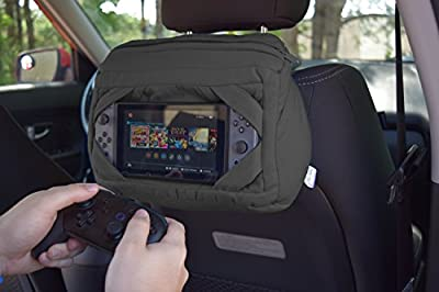 Nintendo Switch Carrying Case - Allows You to Charge While you Travel - Perfect for Road Trips and Long Flights - Tablo X by Yogibo [Dark Gray]