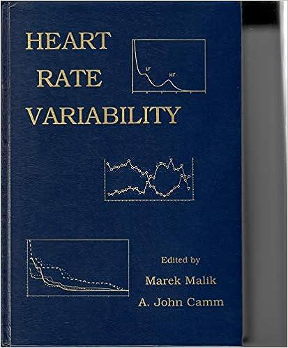 Heart Rate Variability: Marek Malik, A  John Camm
