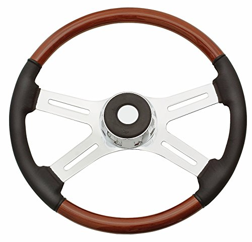 Woody's WP-SWPB7598L Rosewood Chrome Truck Steering Wheel (Beautiful African Hardwood)