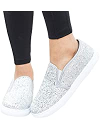 Women's Fashion Sneakers Platform Low Cut Slip-on Faux...