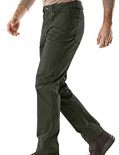 (CQR CQ-TFP500-GRN_32W/34L Men's Flex Stretch Tactical Work Outdoor Operator Rip-Stop Trouser Pants EDC TFP500)
