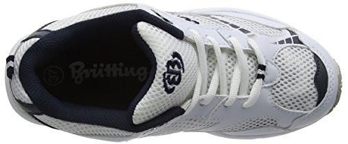 Bruetting Force - Zapatillas de running Niños Blanco (Weiss/blau/silber)