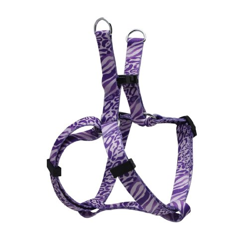 Dogit Style Adjustable Harness, Body 8 by 11-Inch, XX-Small, Jungle Fever, Purple