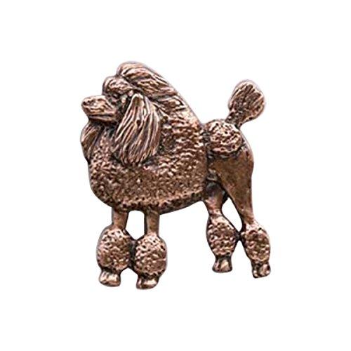 Cuivre ~ Full Body standard Poodle ~ Pin's (épinglette/Broche ~ dc442F