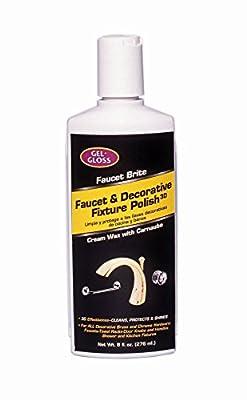 Gel-Gloss Faucet Brite Faucet and Decorative Fixture Polish, 8-Ounce