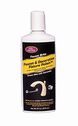 Gel-Gloss Faucet Brite Faucet and Decorative Fixture Polish, 8-Ounce ()