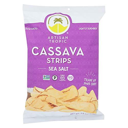 Artisan Tropic Cassava Strips with Sea Salt 4.5 Oz (12 Pack)