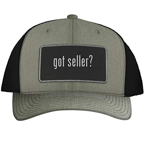 got Seller? - Leather Black Metallic Patch Engraved Trucker Hat, HeatherBlack, One Size (Best Selling Items On Poshmark)