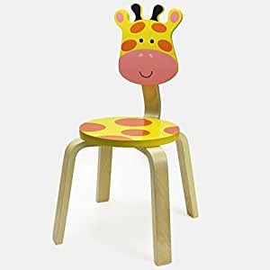 Children's' Chairs - iPlay, iLearn Single Chairs for Kids Toddler Playroom Chairs Animal Chairs Chairs for Toddlers Play Chairs, Matched With Kid Table (Giraffe)