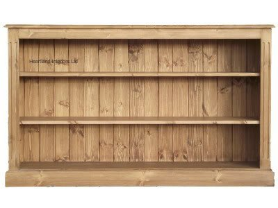Low Pine Bookcase 5ft Wide Handcrafted Waxed Bookshelves Choice Of Colours No Flat Packs No Assembly Bk07