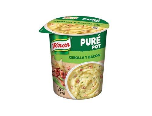 Knorr Pot Plato Preparado de Puré de Patata con Cebolla y Bacon - 74 gr: Amazon.es: Alimentación y bebidas