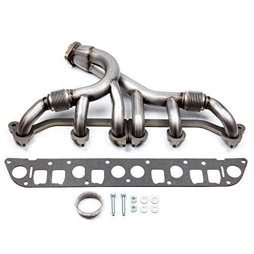 cciyu Stainless Steel Exhaust Manifold Kit Fits 1991-1999 Jeep Cherokee 1991-1992 Jeep Comanche 1993-1998 Jeep Grand Cherokee 1997-1999 Jeep TJ 1991-1995 1997-1999 Jeep Wrangler ()